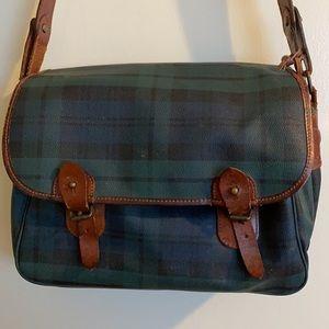 VTG Polo Ralph Lauren Tartan Messenger Bag